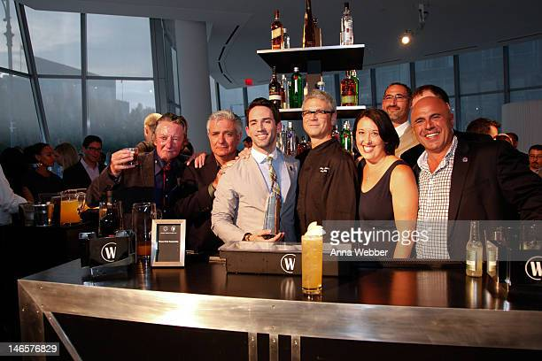 The World Class 2012 Winner Ricky Gomez with luminaries Gary Regan Dale DeGroff Steve Olson Julie Reiner David Nepove Mark Schulte and Tony AbouGanim...