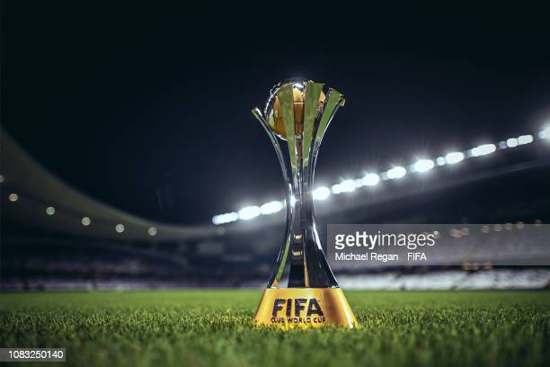 The World Club Cup trophy after the FIFA Club World Cup UAE 2018 match between ES Tunis and Al Ain on December 15 2018 in Al Ain United Arab Emirates