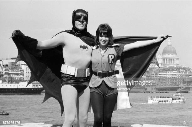 The world famous 'Batman' alias Adam West on his flying visit to London appears exclusively for London Weekend Television as guest on 'Saturday...