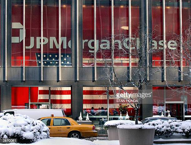 The world headquarters of JP Morgan Chase is shown in this photo taken 15 January in New York JP Morgan Chase merged with Bank One in a 58 million...