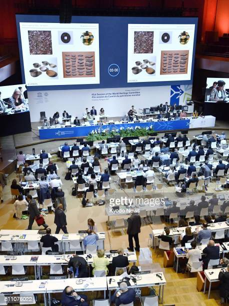 The World Heritage Committee of the United Nations Educational Scientific and Cultural Organization holds a meeting in Krakow Poland on July 9 to...
