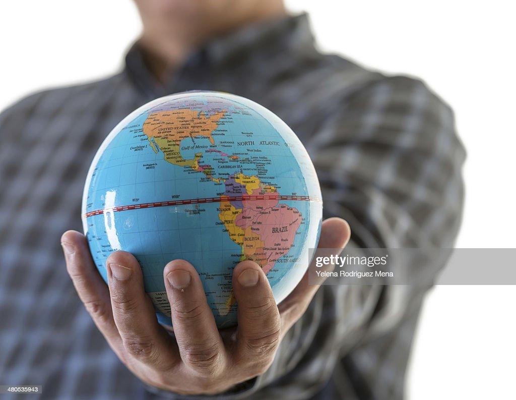 Die Welt in den Händen : Stock-Foto