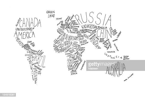 the world in white and grey words - single word stock pictures, royalty-free photos & images