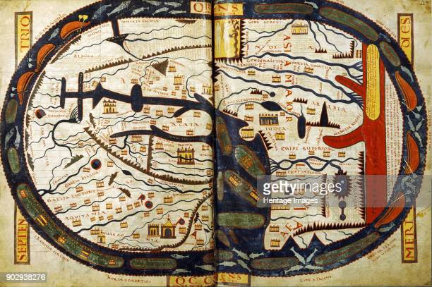 The world map from the SaintSever Beatus Found in the Collection of Bibliothèque Nationale de France