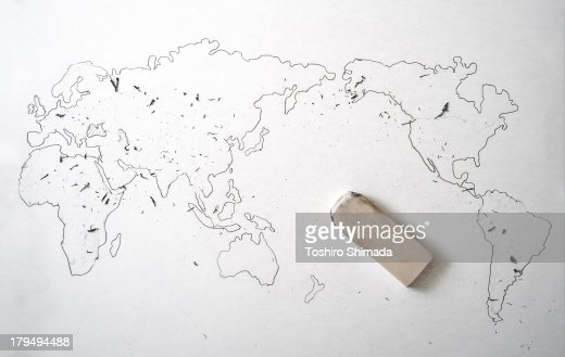 Erasing world maps border stock photo getty images keywords gumiabroncs Image collections