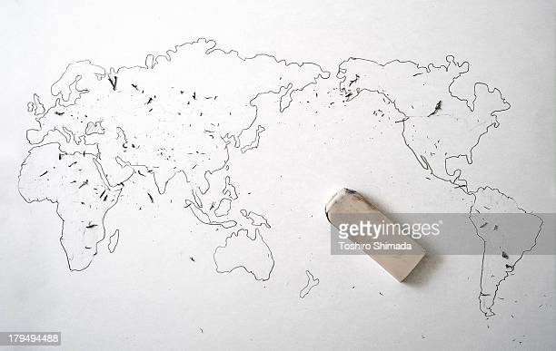 the world map with no borders - asia pac stock pictures, royalty-free photos & images