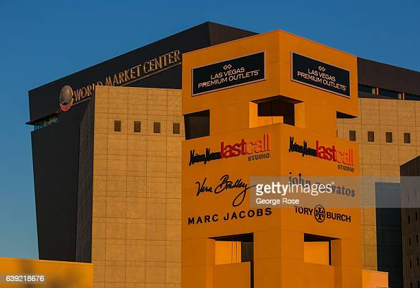 The World Market Center and adjacent Premium Outlet Mall located near downtown is viewed at sunrise on January 6 2017 in Las Vegas Nevada Tourism in...