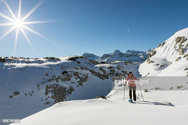 The World of Dachstein Mountains snowshoeing, Austria