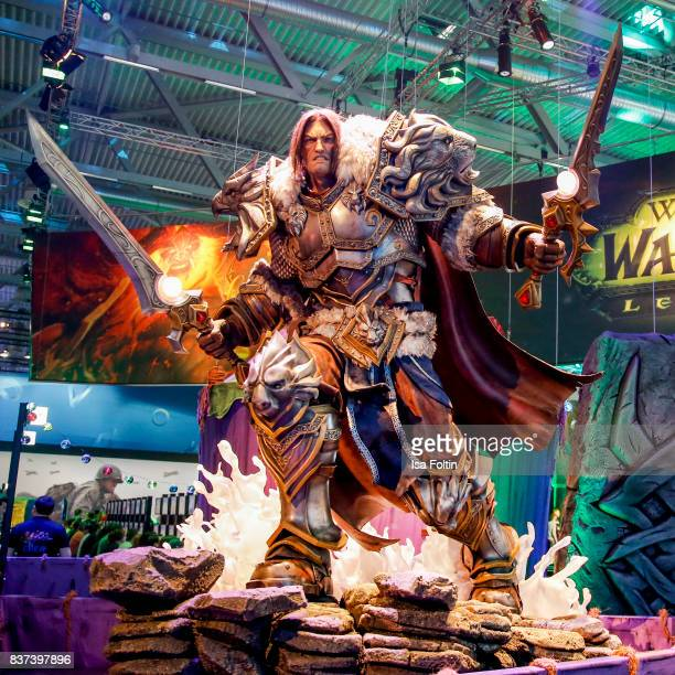 The World of Warcraft stand is seen at the Gamescom 2017 gaming trade fair on August 22, 2017 in Cologne, Germany. Gamescom is the world's largest...