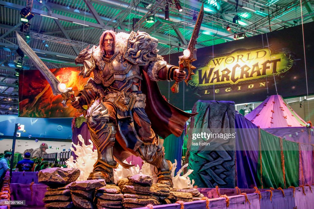 The World of Warcraft stand is seen at the Gamescom 2017 gaming trade fair on August 22, 2017 in Cologne, Germany. Gamescom is the world's largest digital gaming trade fair and will be open to the public from August 22-26.