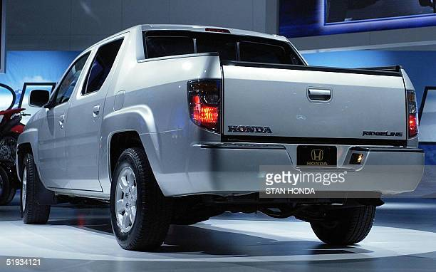 The world premiere of the 2006 Honda Ridgeline the first truck made by Honda 10 January 2005 during the press days at the North American...