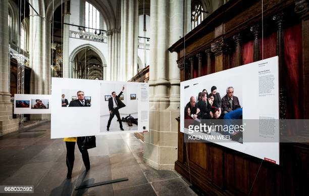 The World Press Photo of the Year 2017 is exhibited as part of the World Press Photo 2017 showcase in the New Church in Amsterdam on April 13 2017...