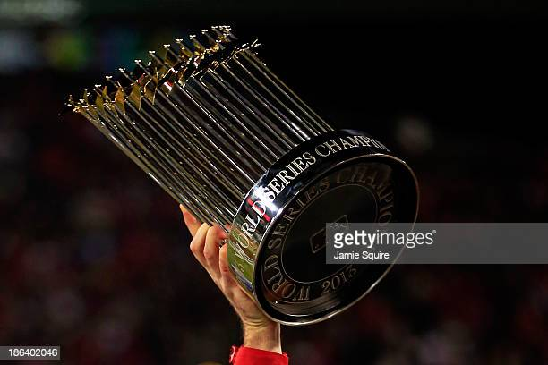 The World Series trophy is seen following Game Six of the 2013 World Series at Fenway Park on October 30 2013 in Boston Massachusetts The Boston Red...