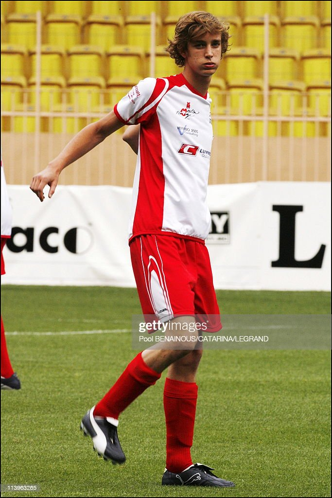 The World stars Football Match at the Louis II Stadium in Monaco City, Monaco on May 23, 2006- : News Photo