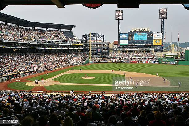 The World Team takes on the U.S.A. Team during the XM Satellite Radio All-Star Futures Game at PNC Park on July 9, 2006 in Pittsburgh, Pennsylvania.