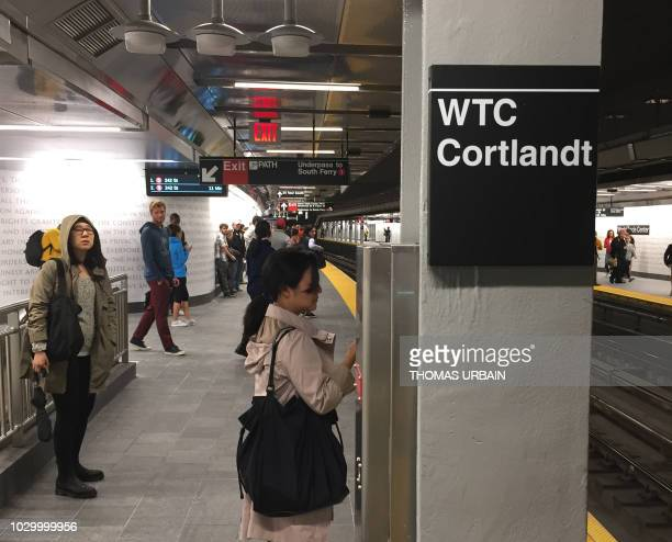 The World Trade Center Cortlandt Street subway station is seen in New York September 9 where just days before the anniversary of the September 11...