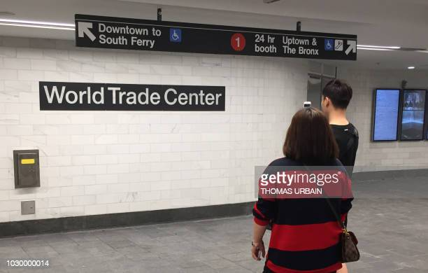 TOPSHOT The World Trade Center Cortlandt Street subway station is seen in New York September 9 where just days before the anniversary of the...