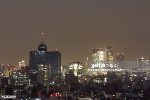 The World Trade Center - Mexico City at night