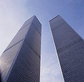 The World Trade Center Twin Towers in 1991