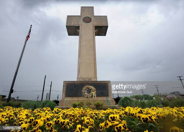 The World War I memorial cross at 4500 Annapolis Road in Bladensburg Md The Bladensburg Peace Cross as the local landmark is known was dedicated in...