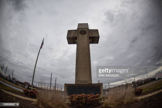 The World War I memorial cross in Bladensburg Maryland near the nation's capital Washington is seen on February 082019 The US government asked the...