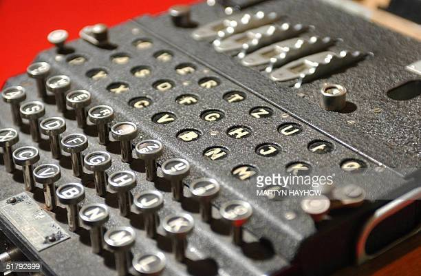 The World War II Enigma decoding machine is seen 25 November 2004 at Bletchley Park home of the WWII codebreakers A team of code breakers from the...