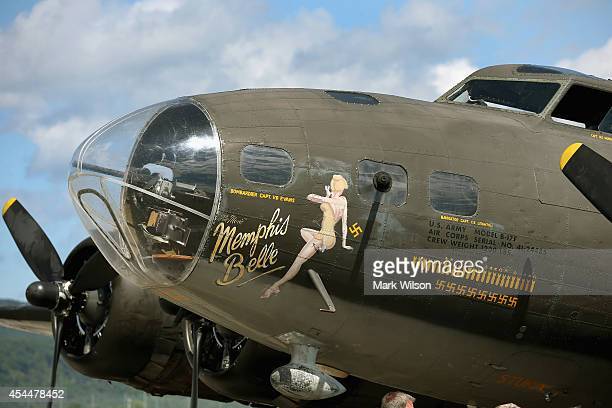 The World War II Era Boeing B17 nicknamed Memphis Belle is displayed on September 1 2014 in Roanoke Virginia Though it is not the original Memphis...