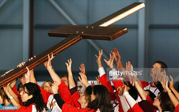 The World Youth Day Cross arrives in Australia at a ceremony July 1 2007 in Sydney Australia World Youth Day the world's largest youth event will...