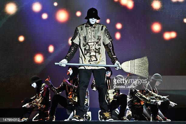 The worldfamous dance crew Jabbawockeez perfom at the Monte Carlo Hotel And Casino Resort on June 18 2012 in Las Vegas Nevada