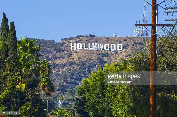 The worldfamous Hollywood sign in the Hollywood hills Los Angeles California