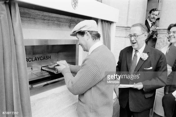 The Worlds First ATM Cash Machine is unveiled at Barclays Bank in Enfield Middlesex just North of London 27th June 1967 Picture shows actor Reg...