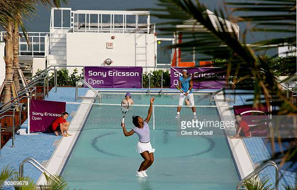 The Worlds first ever game of tennis on water involving two of the Worlds highest profile tennis players Rafael Nadal of Spain and Serena Williams of...