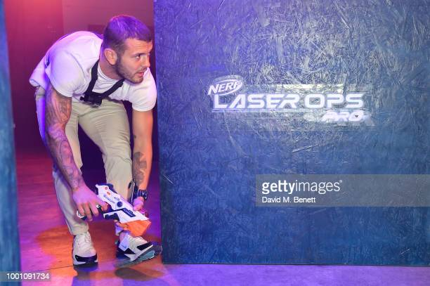 The worldÕs first NERF Laser Ops Pro battle with West Ham footballer Jack Wilshere upping his game like never before at the launch event on July 18...