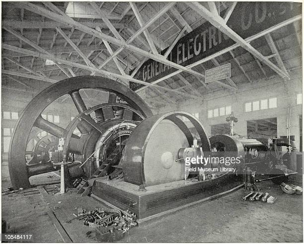 The World's Greatest Dynamo Interior of General Electric exhibit From ''Columbian Gallery A Portfolio of Photographs of the World's Fair'' The Werner...