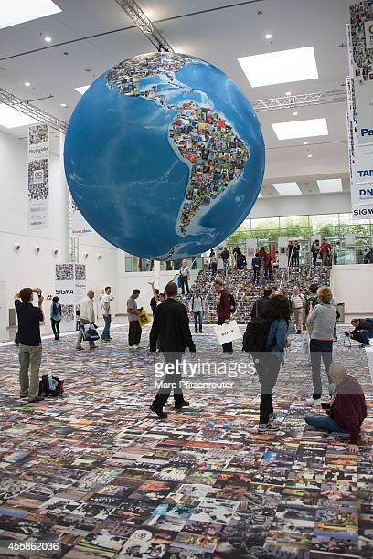 The Worlds Largest Photoglobe A Visual Highlight at the 2014 Photokina trade fair on September 21 2014 in Cologne Germany Photokina is the world's...