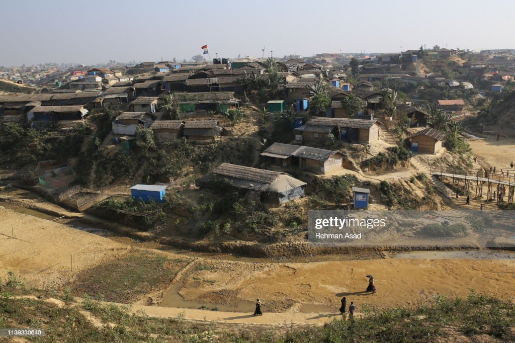 The world's largest Rohingya refugee camps in Cox's Bazar : Stock Photo