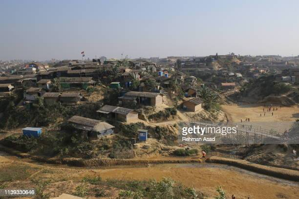 the world's largest rohingya refugee camps in cox's bazar - refugee camp stock pictures, royalty-free photos & images
