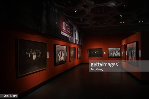 The world's largest salt paper prints are displayed at Heilongjiang Art Museum on November 15 2018 in Harbin ChinaThese prints were produced by Dr...