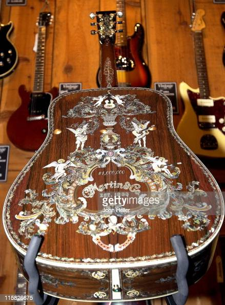 the world 39 s most expensive guitar manufactured by c f martin co news photo getty images. Black Bedroom Furniture Sets. Home Design Ideas