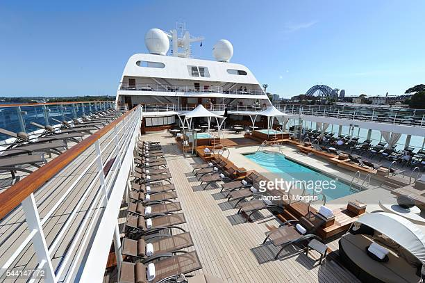 The Worlds Newest Ultra Luxury Ship Seabourn Sojourn Arrives Into Sydney Harbour on February 4 2011 in Sydney Australia