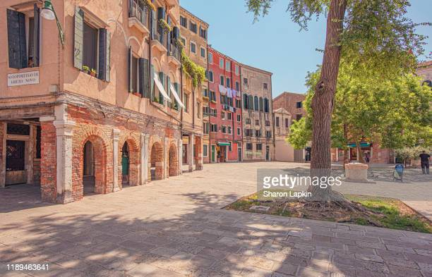 the world's oldest jewish ghetto in venice - lockdown stock pictures, royalty-free photos & images