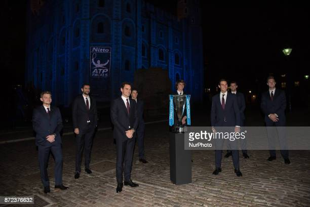 The World's top eight players attend the 2017 Nitto ATP Finals Official Launch presented by Moet amp Chandon at the Tower of London David Goffin of...