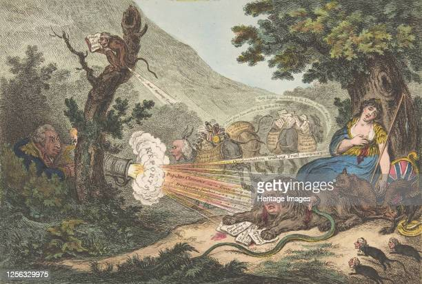 The Wounded Lion, July 16, 1805. Artist James Gillray.