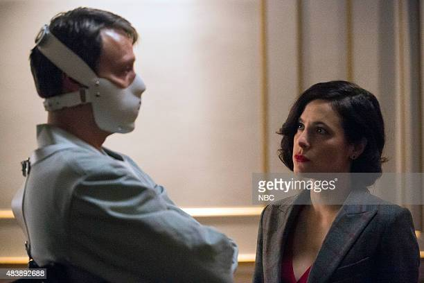 HANNIBAL 'The Wrath of the Lamb' Episode 313 Pictured Mads Mikkelsen as Hannibal Lecter Caroline Dhavernas as Alana Bloom