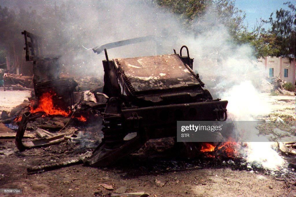 Black Hawk Down, on 3 October two US helicopters were shot down in Mogadishu by Somali militia in 1993