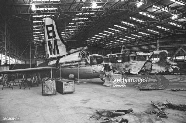 The wreckage of his British Midland plane now at Farnborough Aerodrome Captain Marlow Survived the Stockport air crash of 4th June 1967 and is in...