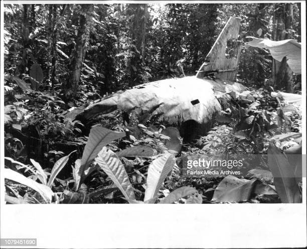 The wreckage of the Betty aircraft in which Admiral Yamamoto met his death in an American AmbushThe fuselage of Yamamoto aircraft in the Jungle 27...