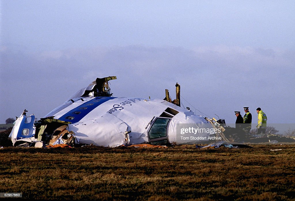 The wreckage of the Pan-Am 747 plane which was blown up en route to JFK airport by Libyan terroists.