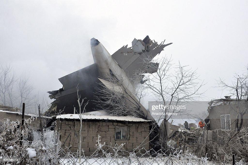 Cargo plane crashes in Bishkek : News Photo