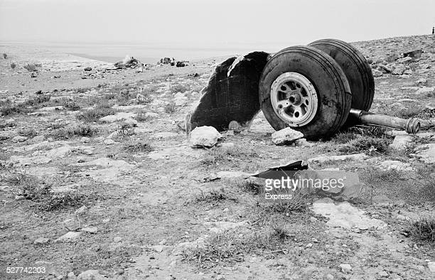 The wreckage of the Vickers Viscount airliner at the site of Central African Airways plane crash near Benina International Airport Libya August 1958